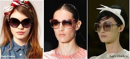 большие круглые очки в пластиковой оправе в 2013