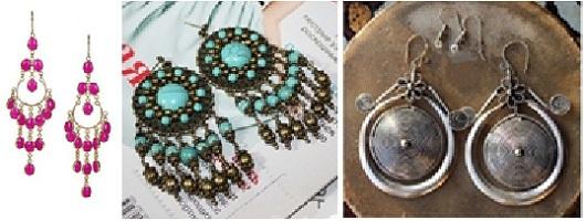 мода 2013 - восточные серьги