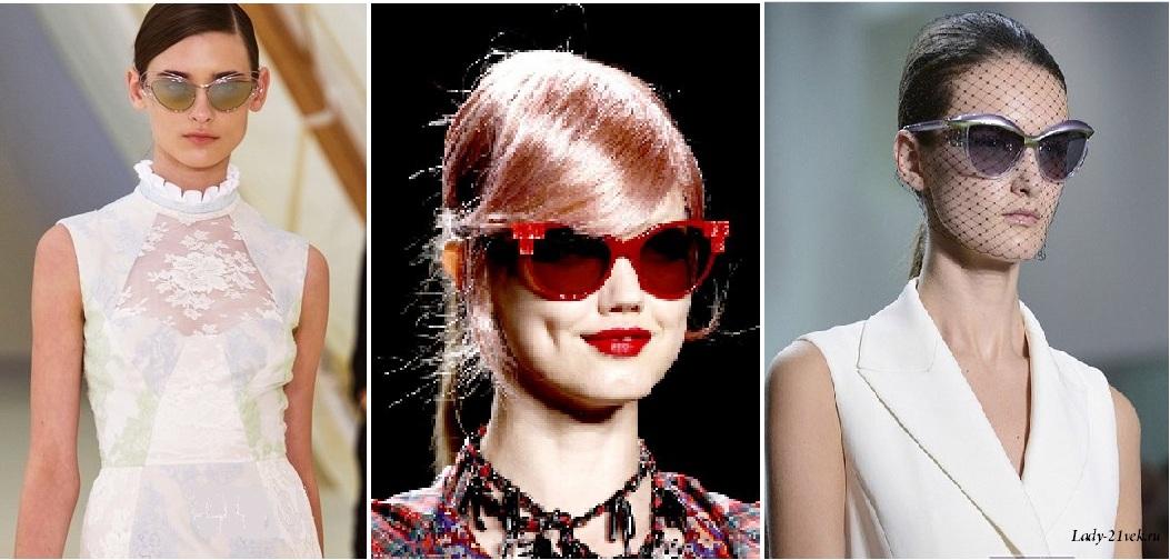 """очки """"кошачьи глазки"""" в модной цветовой гамме"""