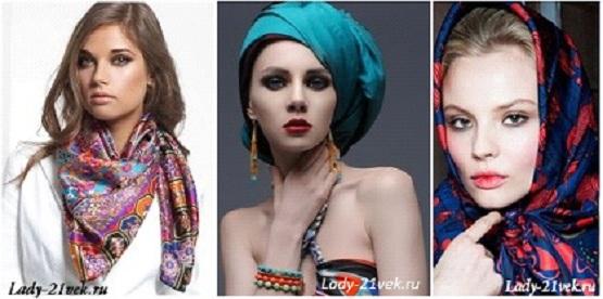 тренд 2013 : модные платки и тема востока